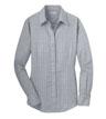 RH71 - Ladies Windowpane Plaid Non-Iron Shirt